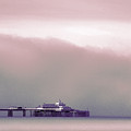 Sea Mist Replaces The Great Orme As The Backdrop To Llandudno Pier by Mal Bray