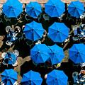 Sea Of Blue Umbrellas by E Faithe Lester