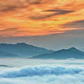 Sea Of Clouds By Sunrise by SJ. Kim