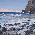 Sea Pounded Stones At Crackington Haven by Lawrence Dyer
