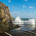 Sea Spray At Mevagissey Harbour by Susie Peek