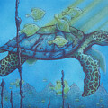 Sea Turtle And Fish by Erik Loiselle