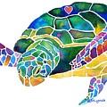 Sea Turtle Celebration 4 Prints Only by Jo Lynch