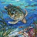 Sea Turtle Dive by Linda Olsen