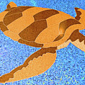 Sea Turtle Inlay In Vibrant Colors by Marian Bell