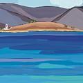 Sea View And Chapel by Sarah Gillard