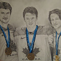 Seabrook Toews Keith Gold Medal by Brian Schuster