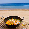 Seafood Paella In Cafe by Anastasy Yarmolovich