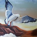 Seagull Landing by Martha Mullins