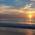 Seagull Sunrise Along The Jersey Shore by Bob Cuthbert