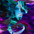 Seahorse In A Lightning Storm by Abstract Angel Artist Stephen K