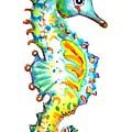 Seahorse Watercolor by Carlin Blahnik CarlinArtWatercolor
