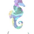 Seahorse Watercolour by Kris Sheather