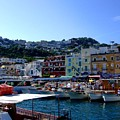 Seaport Of Capri Italy by Mindy Newman