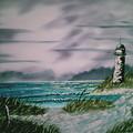 Seascape Lighthouse by Jim Saltis