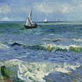 Seascape Near Les Saintes Maries De La Mer Arles June 1888 Vincent Van Gogh 1853  1890 by Artistic Panda