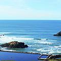 Seascape San Francisco Sutro Bath Pacific Ocean Shore by Irina Sztukowski