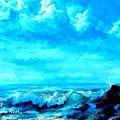 Seascape Scene Near Northbrooke-on-sea L A by Gert J Rheeders