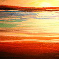 Seascape Sunset by Patricia L Davidson