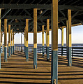 Seascape Walk On The Pier by Carol F Austin