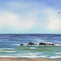 Seascape With Three Rocks by Irina Sztukowski