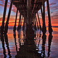 Seaside Reflections Under The Imperial Beach Pier by Sam Antonio Photography