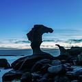 Seaside Rock Formations At Daybreak by Merrillie Redden