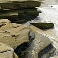 Seaside With Rocks On Left by Debby Harrison