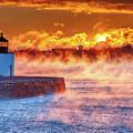 Seasmoke At Salem Lighthouse by Jeff Folger