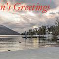 Season's Greetings- Cabin On The Lake by Joy McAdams