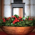 Seasons Greetings Christmas Centerpiece by Shelley Neff