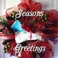 Seasons Greetings Old Skate by Barbara Griffin