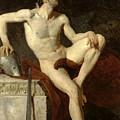 Seated Gladiator by Jean Germain Drouais