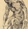 Seated Male Nude (sitzender M?nnlicher Akt) by Lovis Corinth