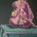 Seated Pink Nude by Aleksandra Buha