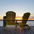 Seats For Sunset by Robert Banach