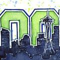 Seattle 12th Man Legion Of Boom Painting by Olga Shvartsur