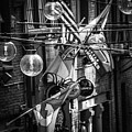 Seattle Alley In Black And White by Kevin Mcenerney