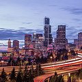 Seattle At Dusk by Seattle Art Wall