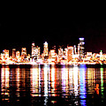 Seattle At Night - From Alki Beach by Brian O'Kelly