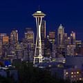 Seattle At Night by Larry Keahey