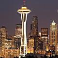 Seattle Full Moon by Paul Fell