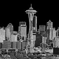 Seattle Black And White by Larry Keahey