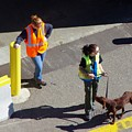 Seattle Dock Dog Workers 1 by Phyllis Spoor