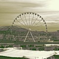 Seattle Great Wheel And Pier 57 by Dan Sproul