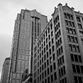 Seattle - Misty Architecture 3 Bw by Frank Romeo