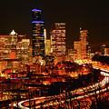Seattle Night Traffic by Brian O'Kelly