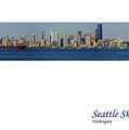Seattle Skyline From Alki by Karen Ulvestad