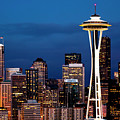 Seattle Skyline by Janet Fikar