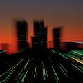 Seattle Skyline Motion by Jim Corwin